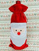 baratos -Sacos e Transportadores de Vinho Natal / Férias Tecido Rectângular Festa / Novidades Decoração de Natal