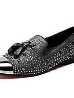 abordables -Homme Chaussures Formal Cuir Nappa Printemps British Mocassins et Chaussons+D6148 Preuve de l'usure Gris / Strass / Soirée & Evénement