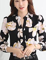Недорогие -Жен. С принтом Блуза Классический Геометрический принт