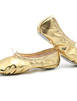 abordables -Femme Chaussures de Ballet Polyuréthane Plate Talon Plat Chaussures de danse Or / Argent