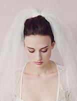 Недорогие -Два слоя Старинный / Классический Свадебные вуали Фата до кончиков пальцев с Однотонные Тюль