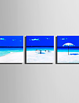 cheap -Print Rolled Canvas Prints / Stretched Canvas Prints - Beach Theme / Nautical Modern