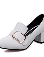 Недорогие -Жен. Комфортная обувь Полиуретан Весна / Лето Деловые Обувь на каблуках На толстом каблуке Белый / Черный / Бежевый