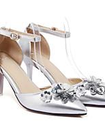 Недорогие -Жен. Балетки Микроволокно Весна Обувь на каблуках На шпильке Золотой