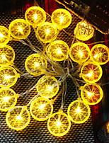 Недорогие -3M Гирлянды 20 светодиоды Желтый Новый дизайн / Декоративная / Cool Аккумуляторы AA 1 комплект