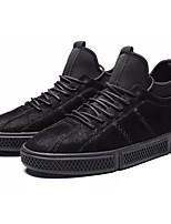 Недорогие -Муж. Комфортная обувь Полиуретан Осень На каждый день Кеды Дышащий Черный / Серый