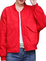 Недорогие -Жен. Куртка Классический - Однотонный / Разные цвета