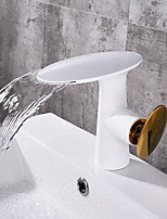 cheap -Bathroom Sink Faucet - Waterfall Painting Centerset Single Handle One Hole