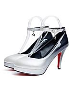 Недорогие -Жен. Балетки Полиуретан Осень Обувь на каблуках На шпильке Черный / Серый