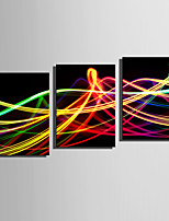 cheap -Print Rolled Canvas Prints / Stretched Canvas Prints - Abstract / Shapes Modern