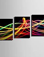 Недорогие -С картинкой Роликовые холсты / Отпечатки на холсте - Абстракция / Геометрия Modern