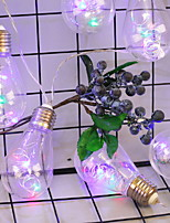 baratos -2,5 m Cordões de Luzes 20 LEDs Branco Quente / Multicolorido Novo Design / Decorativa / Legal Baterias AA alimentadas 1conjunto