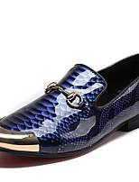 Недорогие -Муж. Официальная обувь Наппа Leather Весна Английский Мокасины и Свитер Доказательство износа Серый / Синий / Для вечеринки / ужина