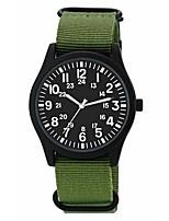 Недорогие -Муж. Спортивные часы Японский Японский кварц 30 m Защита от влаги Cool Нейлон Группа Аналоговый На каждый день Мода Жад / Цвета морской волны - Темно-синий Камуфляж Зеленый / Один год