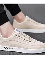 Недорогие -Муж. Комфортная обувь Лён Весна Кеды Белый / Черный / Бежевый