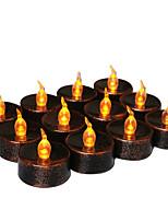 Недорогие -Праздничные украшения Украшения для Хэллоуина Хэллоуин Развлекательный Светодиодная лампа / Декоративная Оранжевый 20pcs