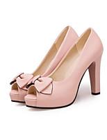 abordables -Femme Chaussures de confort Polyuréthane Printemps Chaussures à Talons Talon Bottier Blanc / Beige / Rose