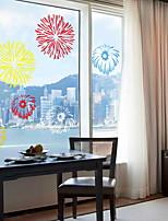 Недорогие -Оконная пленка и наклейки Украшение Современный / Абстракция Праздник ПВХ Стикер на окна / Cool
