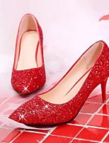 Недорогие -Жен. Комфортная обувь Полиуретан Весна Обувь на каблуках На шпильке Красный