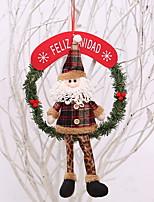 baratos -Ornamentos Desenho Tecido Brinquedo dos desenhos animados Decoração de Natal