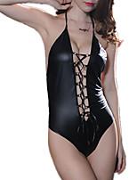 abordables -Costumes Vêtement de nuit Femme - Dos Nu, Couleur Pleine