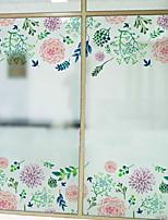 Недорогие -Оконная пленка и наклейки Украшение С узором Цветы ПВХ Стикер на окна / обожаемый