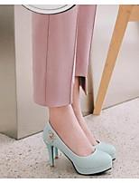 Недорогие -Жен. Комфортная обувь Кожа Весна Обувь на каблуках На шпильке Синий