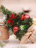 Недорогие -Новогодние ёлки Мультяшная тематика пластик / PVC Мультфильм игрушки Рождественские украшения