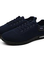 Недорогие -Муж. Комфортная обувь Полотно Осень На каждый день Кеды Дышащий Черный / Синий / на открытом воздухе