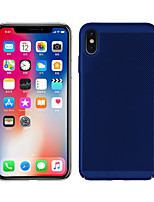 baratos -Capinha Para Apple iPhone XS / iPhone XR Áspero Capa traseira Sólido Rígida PC para iPhone XS / iPhone XR / iPhone XS Max