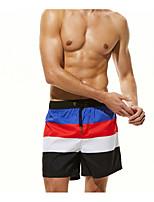 abordables -Homme Basique Rouge Gris Jaune Caleçon de Bain Bas Maillots de Bain - Rayé M L XL / Sexy