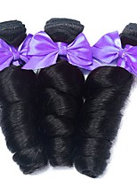 billiga -3 paket Indiskt hår / Vietnamesiskt hår Löst vågigt Äkta hår / Obehandlat Mänsligt hår Human Hår vävar / Favör för Tebjudningar / bunt hår 8-28 tum Naurlig färg Hårförlängning av äkta hår Silkig