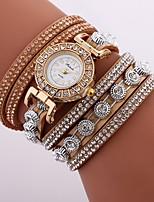 Недорогие -Жен. Часы-браслет Кварцевый Новый дизайн Повседневные часы Имитация Алмазный PU Группа Аналоговый На каждый день Мода Черный / Белый / Синий - Синий Розовый Светло-синий Один год Срок службы батареи
