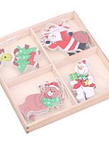 baratos -Ornamentos Desenho De madeira Rectângular Novidades Decoração de Natal