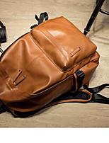 Недорогие -Муж. Мешки PU рюкзак Молнии / Однотонные Сплошной цвет Синий / Черный / Оранжевый