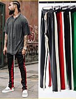 economico -Per uomo Tasche Pantaloni da corsa - Verde, Bianco / Nero, Nero / Rosso Gli sport Monocolore Pantalone / Sovrapantaloni Fitness, Palestra, Allenarsi Abbigliamento sportivo Asciugatura rapida