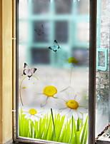 Недорогие -Оконная пленка и наклейки Украшение Обычные Персонажи ПВХ Стикер на окна / Прозрачный