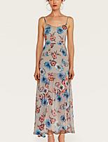 baratos -Mulheres Básico Bainha Vestido Floral Longo