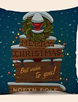 abordables -Housse de coussin Vacances Polyester Rectangulaire Soirée / Nouveautés Décoration de Noël