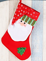 baratos -Meias Finas / Ornamentos Desenho Tecido Novidades Decoração de Natal