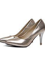 Недорогие -Жен. Комфортная обувь Синтетика Весна Обувь на каблуках На шпильке Серебряный / Красный / Синий