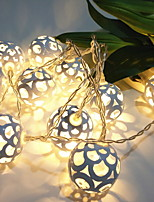 Недорогие -1,5 м Гирлянды 10 светодиоды Желтый Декоративная / обожаемый Аккумуляторы 1 комплект