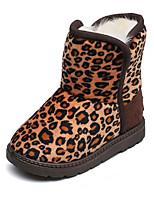 Недорогие -Девочки Обувь Хлопок Наступила зима Зимние сапоги Ботинки Для прогулок для Дети Кофейный / Контрастных цветов