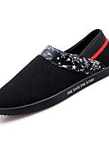 baratos -Homens Sapatos Confortáveis Com Transparência Outono Casual Mocassins e Slip-Ons Respirável Preto / Vermelho