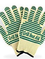 Недорогие -1 пара Термостойкое волокно силикагель Защитные перчатки Безопасность и защита Износостойкий