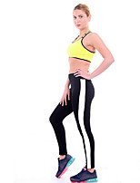 cheap -Women's Basic Legging - Solid Colored / Striped High Waist