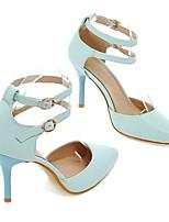 Недорогие -Жен. Балетки Полиуретан Весна Обувь на каблуках На шпильке Белый / Синий / Розовый