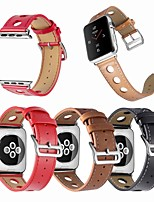 abordables -Bracelet de Montre  pour Apple Watch Series 4/3/2/1 Apple Bracelet en Cuir Cuir / Vrai Cuir Sangle de Poignet