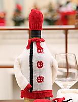 baratos -Sacos e Transportadores de Vinho Férias Algodão Rectângular Festa / Novidades Decoração de Natal