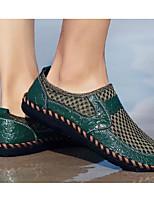 Недорогие -Муж. Комфортная обувь Свиная кожа Весна Мокасины и Свитер Коричневый / Зеленый / Синий